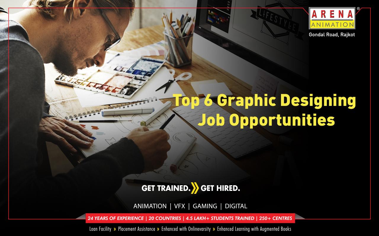 Top 6 Graphic Designing Job Opportunities